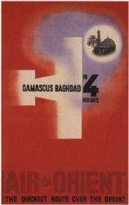 Air Orient poster - Damascus to Baghdad in 4 hours (1932)